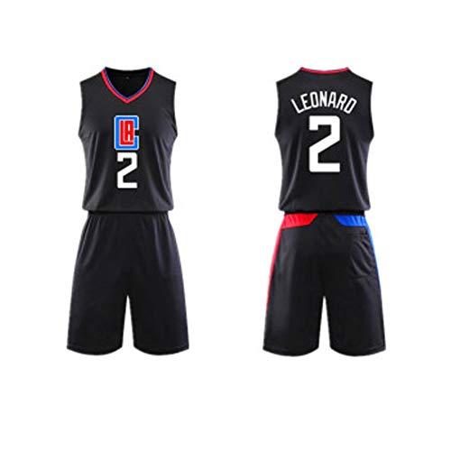 LVADE Basketbal truien Kawhi Leonard2# Los Angeles Clippers T-Shirts voor mannen, voor kinderen studenten jonge volwassenen mouwloos zweetabsorberende premium multi-gekleurde polyester goede match