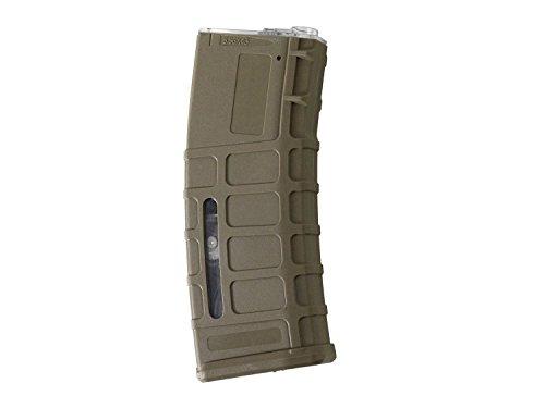 "Battleaxe \""PMAG Airsoft M4 / M16 Highcap Magazin (350 BBS) -TAN-"