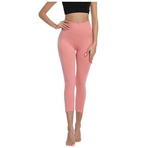 ROMIDA Ladies Sexy Cropped Pants Skinny Jogginghose Stretchy Buttocks Schnelltrocknende Yogahose
