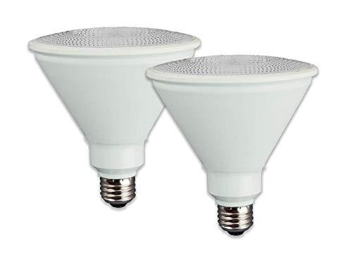 TCP LED 150 Watt Equivalent, 2 Pack, PAR38 Dimmable Flood Light Bulbs, Bright White (3000K)