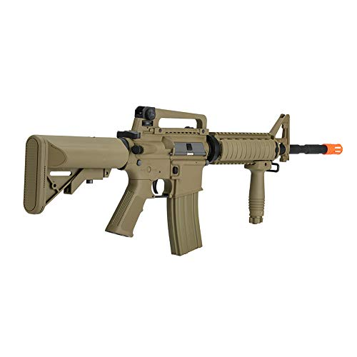 Lancer Tactical Gen 2 Upgraded RIS LT-04 AEG Metal Gear Airsoft Gun, Dark Earth