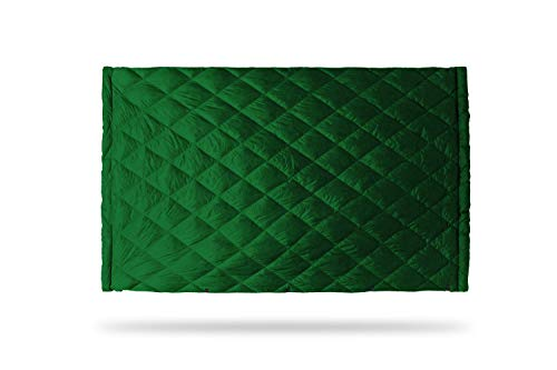 KAMMOK Bobcat 45°F - Down Trail Quilt, Water Resistant, Durable, Compact and Packable, Indoor/Outdoor Camp Blanket (84 in × 54 in) - Pine Green