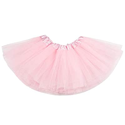 belababy Baby Tutu Skirt, Infant Tutus, 5 Layers Tulle Dress Up for Baby Girls &Toddlers Pink
