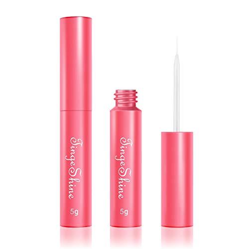 Super Hold False Eyelash Glue, TINGESHINE Professional Latex Free Secure Strong Hold, Strip Eyelash Adhesive Clear Waterproof 5g 0.175oz Safe on Skin…
