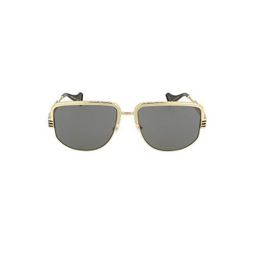 Luxury Fashion | Gucci Heren GG0585S001 Goud Metaal Zonnebrillen | Seizoen Permanent