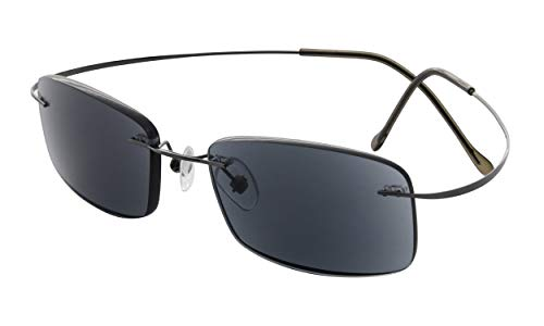 Eyekepper Titan randlose Sonnenbrille fuer Frauen Maenner +2.5