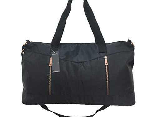 Dolce Vita Women's Nylon Gym Overnight Travel Carry-On Medium Duffel Bag Black