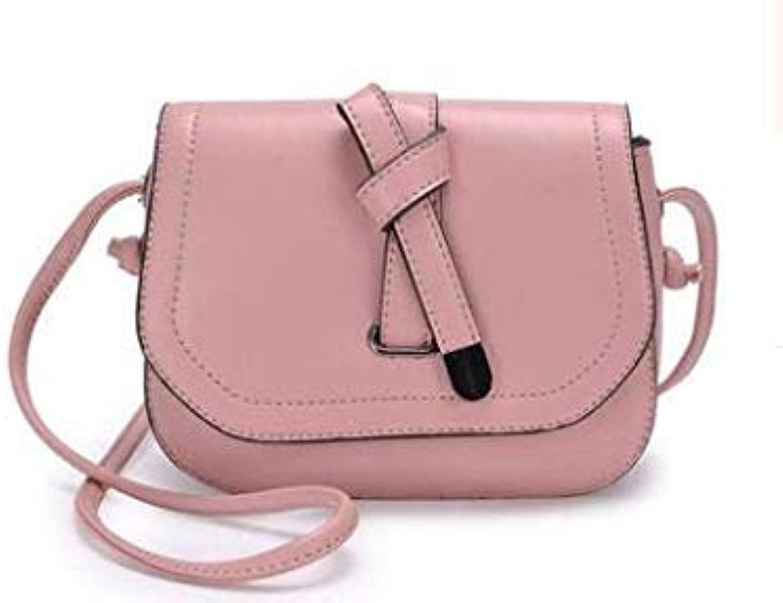 Bloomerang Women Leather Handbags Ladies Large Tote Bag Female Square Shoulder Bags Bolsas Femininas Sac New Fashion Crossbody Bags C526 color Pink