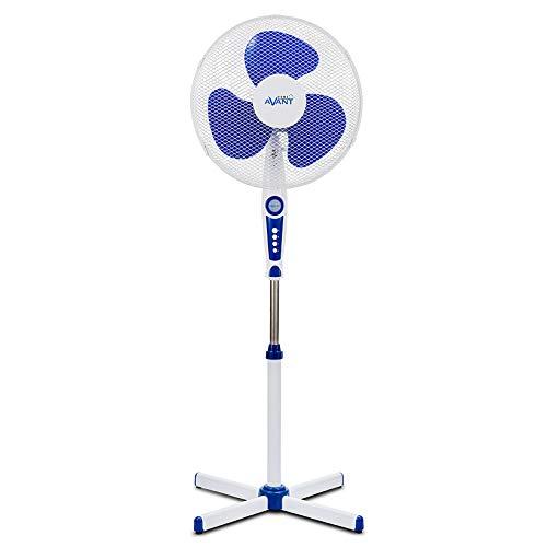 AVANT Ventilador de pie Ventilador Oscilante 45W con 3 velocidades | Altura Regulable | Ventilador con Rejilla de Nido de Abeja | Altura 40cm | Pie en Cruz.