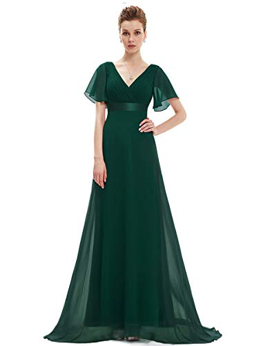 Ever-Pretty Wedding Guest Dresses with Sleeves Green US6