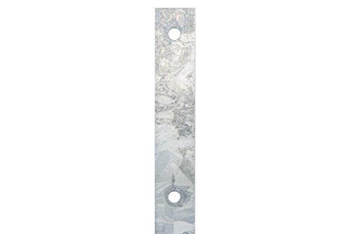 Poteaux de clôture - Hauteur : 1000 mm - Galvanisé à chaud - 60 x 40 cm - Barre I Clôture double fil - Grillage