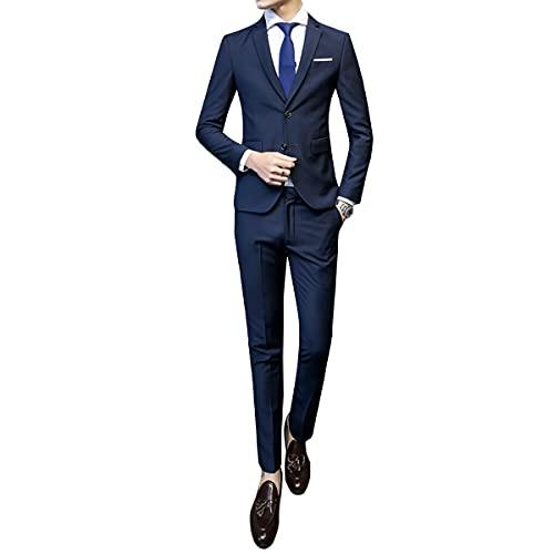 [CEEN]スーツ メンズ スリーピース 細身 ストレッチ 二つボタン ビジネス 3点セット XS