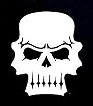 Skull Scary Evil Decal Vinyl Sticker|Cars Trucks Vans Walls Laptop| WHITE |6.5 x 5.5 in|CCI920