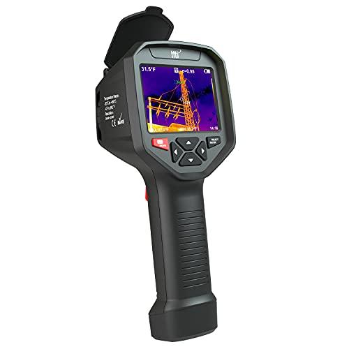 Cámara térmica de alta resolución Hti-Xintai 384 x 288 con pantalla TFT de 3,5 cm, cámara de imágenes infrarrojas con WiFi, cámara térmica de enfoque ajustable con 25 HZ