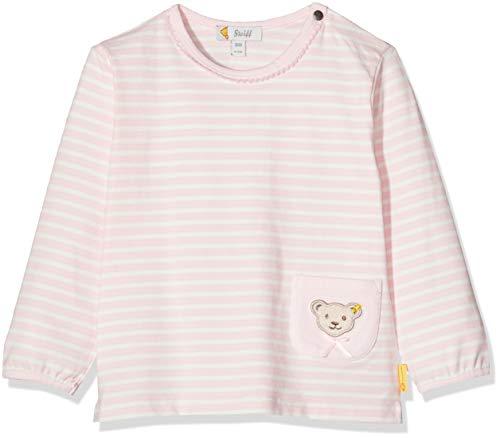 Steiff Baby-Mädchen mit Streifen und Teddybärmotiv Langarmshirt, Rosa (Barely Pink 2560), 62 (Herstellergröße: 062)