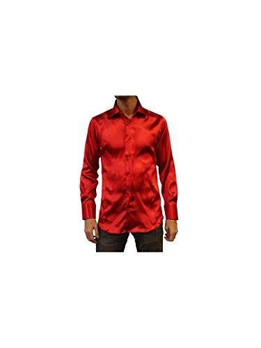 Kebello Chemise en Satin Taille : Homme Rouge L