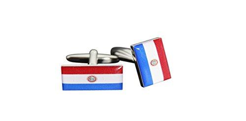 Flaggenfritze® Manschettenknöpfe Fahne / Flagge Paraguay