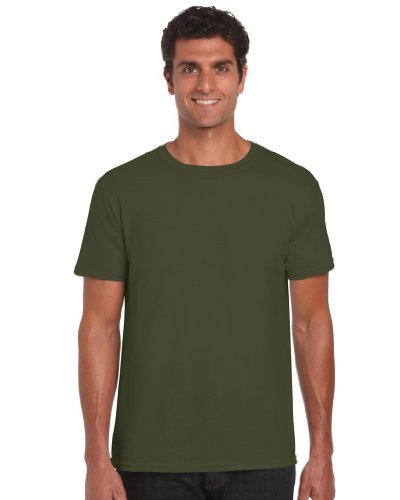 Gildan Softstyle TM Adult Ringspun T-Shirt Militär Grün S S,Grün - Military Green
