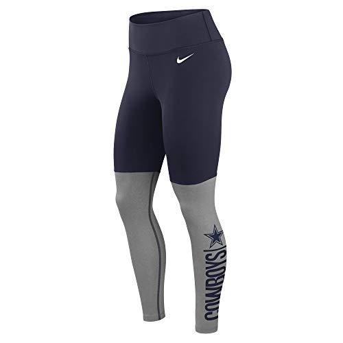 Dallas Cowboys NFL Dallas Cowboys Womens Nike Logo Stack Legging, Nayv Dark Gray Heather, Medium