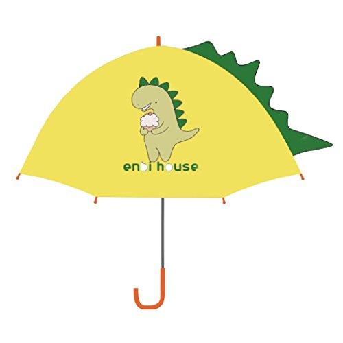 Sombrilla de Lluvia para niños con Forma de Paraguas para niños, para niños, Paraguas de Dinosaurio para niños Talla pequeña para niños