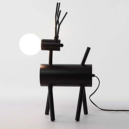 QJL_ANA Creative Children's Room Lámpara de Mesa Postmodern Minimalista Soft Designer Designer Deer Bedside Lamp Dormitorio Decoración Lámpara de Mesa