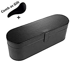 Dyson Supersonic Hair Dryer Case, Portable Magnetic Flip PU Leather Moistureproof Anti-scratch Dustproof Organizer Travel Gift Case for Dyson Supersonic Hair Dryer (black)