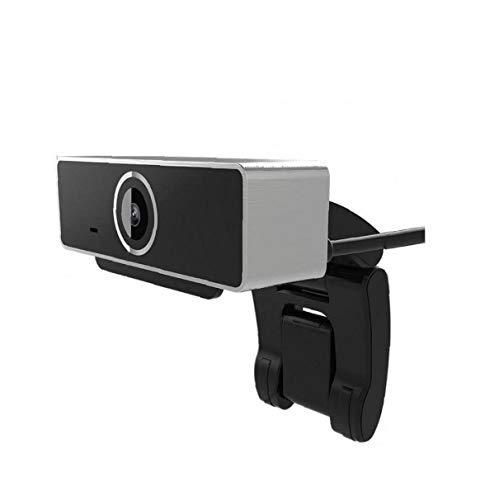 1080P Webcam mit Mikrofon Webcam PC USB 2.0 Web-Kamera für Laptop, Computer, Desktop, Plug and Play, für Live-Streaming, Video-Chat, Konferenz, Aufnahme, Online-Unterricht, Spiel (Silber)