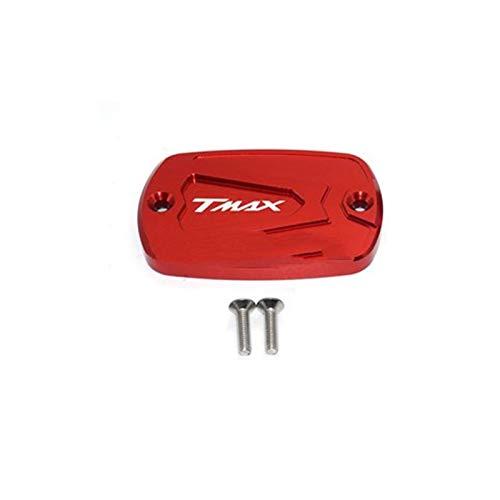 Tapa de depósito de Freno CNC Aluminio Rojo Motocicleta Freno de Freno Embalaje Embalaje Tanque Tapa Tapera de Tanque para Yamaha T-MAX 500 TMAX 500 TMAX 530 (Color : D)