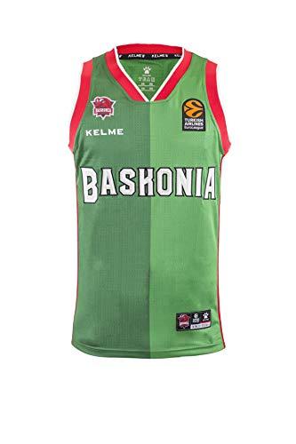 Baskonia 2º Equipacion Camiseta, Adultos Unisex, Verde, L