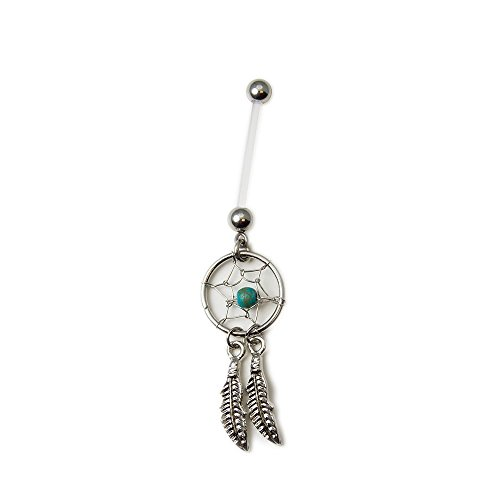 14 Gauge Flexi Maternity Dream Catcher Belly Navel Ring with Bioflex Shaft By Eg Gifts by EG GIFTS