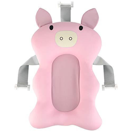 iFCOW - Cuscino per vasca da bagno per neonati, antiscivolo, per vasca da bagno