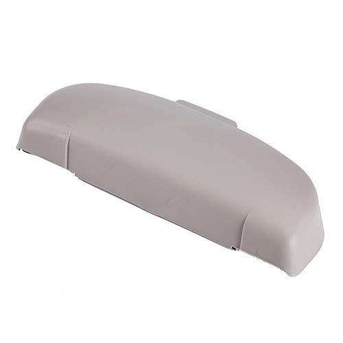 SANON Scatola porta supporto portaoggetti per occhiali da sole auto interni portatile grigio/beige