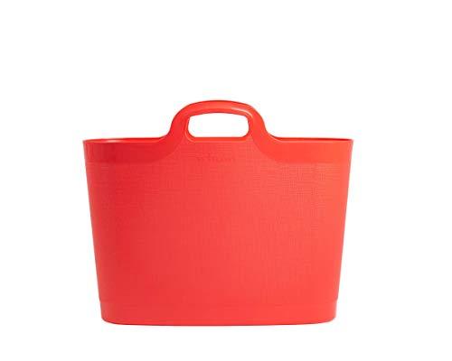 WHAM 29903 Groß Flexi Bag Tragetasche, Einkaufstasche aus Kunststoff - 24,5 Liter - coral (ROSA)