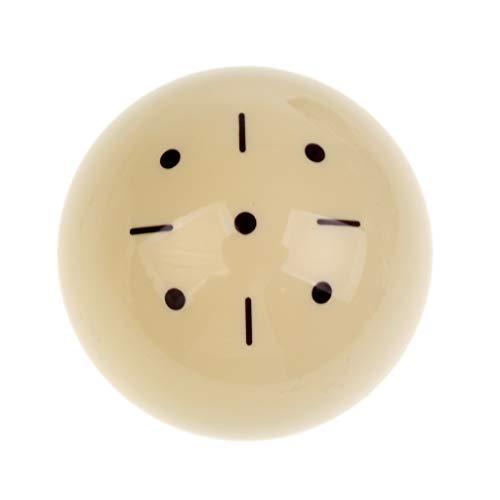 NO LOGO LSB-TAIQIU, 1pc 57mm Black Dot Spot-Weiß-Praxis-Training Billiard Pool Cue Ball-Billard-Pool-Ball-Ersatz