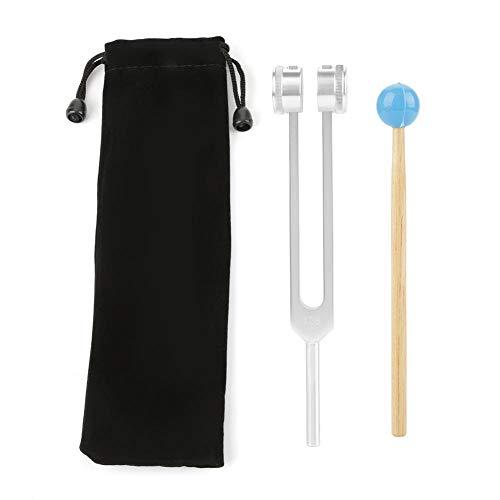 Stimmgabel Set, Y Typ Stimmgabel Tuning Fork aus Aluminium mit Rundem Rad 128HZ Druckfest und Leicht für Neurologie