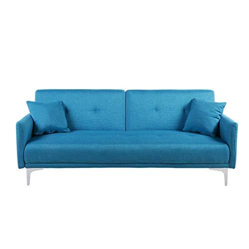 Beliani Sofá Cama Azul LUCAN