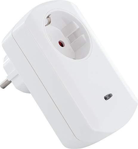 SCHWAIGER -ZHS04- Zwischenstecker/ Steckdosenadapter mit LED Anzeige/ Steckdose/ Schaltsteckdose/ Z-Wave/ Smart Home/ Steuerung per App/ Sprachsteuerung mit Alexa und Google