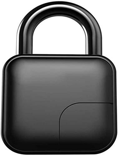 SHKUU Bloqueo Huellas Dactilares, candado biométrico sin Llave Bluetooth Funciona, candado con Bolsa Carga USB Adecuado para Gimnasio, Escuela, Oficina, Bicicleta, Mochila