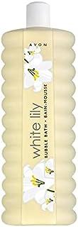 avon white lily bubbles bath 1 liter
