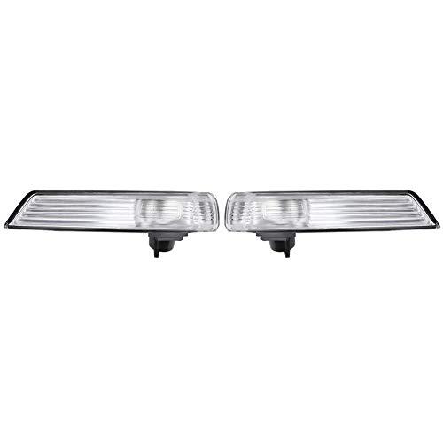 Kimiss Retrovisor del coche luz de señal de giro Luz de señal de giro del espejo retrovisor automático Pantalla para Focus Mondeo(A pair)