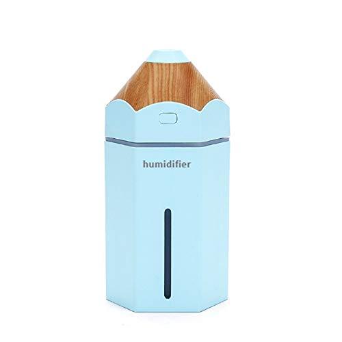 KK Timo Humidificador Mini lápiz pulverizador Mute USB humidificador de Escritorio portátil luz Nocturna (Color : Blue)