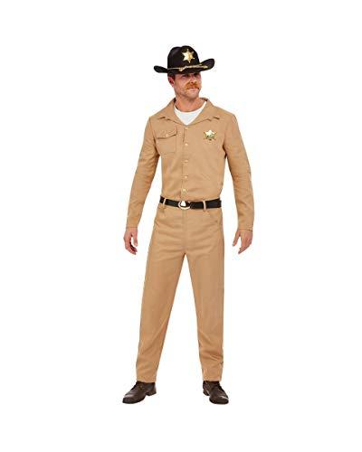 Traje De Sheriff Retro De Los 80 para Hombres L