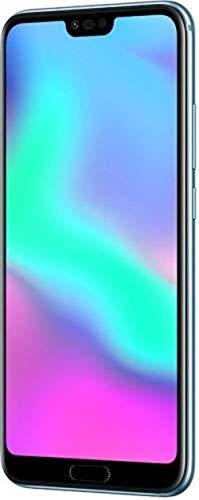 """Honor 10 – Smartphone Android (pantalla de 5,84"""" 19:9, 4G, cámara trasera 16+24Mpx y frontal 24Mpx, 4GB RAM, 64GB ROM, lector de huellas, desbloqueo facial, Octa Core, 3400 mAh), plata"""