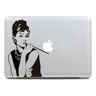 Vinilo decorativo pegatina para portatil macbook, pared, cristal, puerta (Varios colores a elegir)- Audrey Hepburn