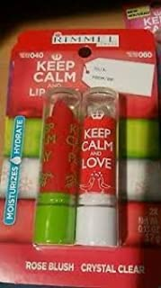 Rimmel Keep Calm and Play Rose Blush & Keep Calm and Love Crystal Clear Lip Balm Set (2)