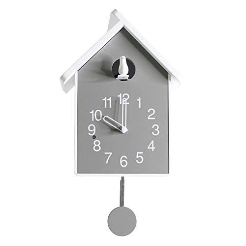 Reloj de Cuco Moderno de , Reloj de Cuco de Madera Artesanal, Reloj de Pared de Cuarzo de Madera Antiguo de Madera, Reloj de Pared de péndulo de Cuco, b