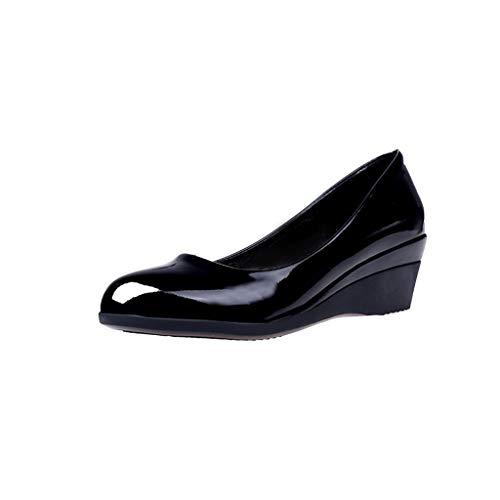 Zapatos Vestir Tacón Medio Grueso Mujer Invierno