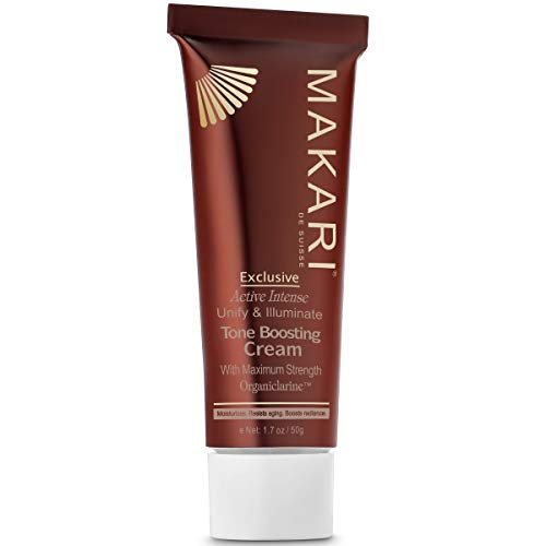 Makari Exclusive Facial Toning FACE CREAM 1.7oz – Lotion with Organiclarine – Advanced Toning Treatment for Dark Spots, Acne Scars, Sun Patches, Freckles & Hyperpigmentation