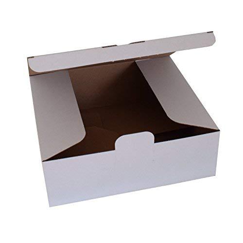 20 Stück Versandkartons Blitzbodenkartons mit einem Griff gefaltet 270x235x95 mm weiß Maxibrief-karton DHL UPS DPD Kartons Versandschachtel Mailbox