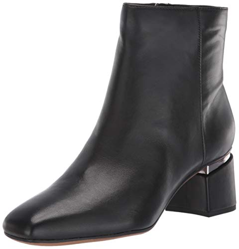 Franco Sarto Women's Marquee Ankle Boot, Black Leather, 7.5 M US